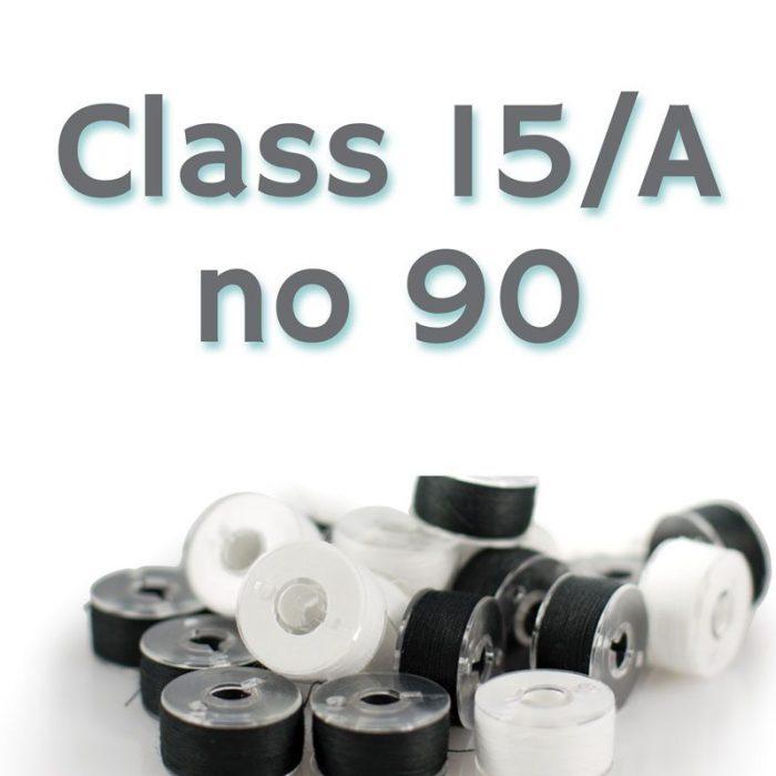 80 Petites Bobines Claire No. 90, Classe 15/A pour Machines Domestiques