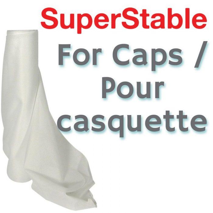 Entoilage Déchirable Blanc pour Casquettes 2.5 oz