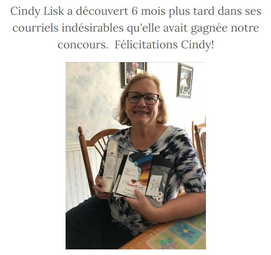 gagnante concours broderie